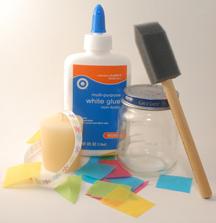 Tissue Paper Jar Candle supplies