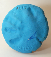no-bake clay handprint preschool craft