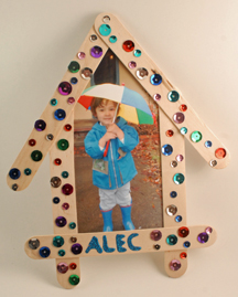 Craft stick picture frame for Father's Day
