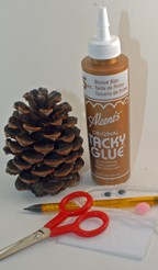 supplies to make pinecone mouse