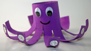 octopus toilet paper tube preschool craft