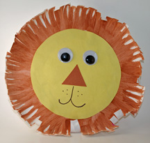 & Paper plate lion craft