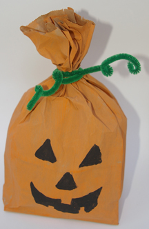 paper bag pumpkin