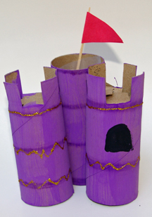 toilet paper roll castle craft