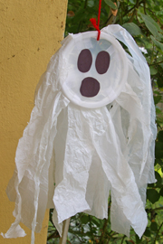 Plastic grocery bag ghost completed