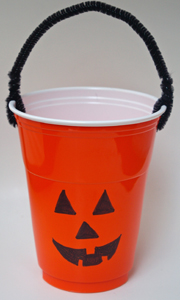 Jack o' lantern pumpkin treat cup
