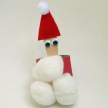 Santa paper tube napkin ring