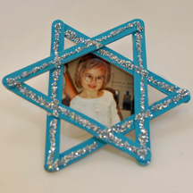 Craft stick Star of David frame