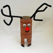 paper tube reindeer