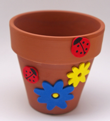 Flower pot and foam craft