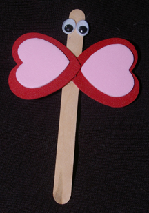 Popsicle stick butterfly