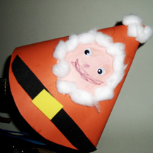 Cone-shaped Santa craft