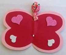 Valentine Tootsie Pop butterfly